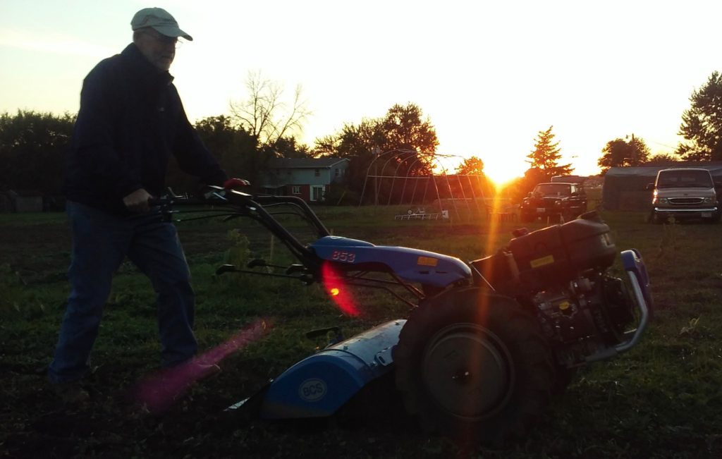 Tilling at Sunset